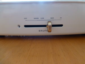 ブルーノホットプレート温度調節