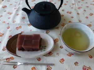 水ようかん緑茶