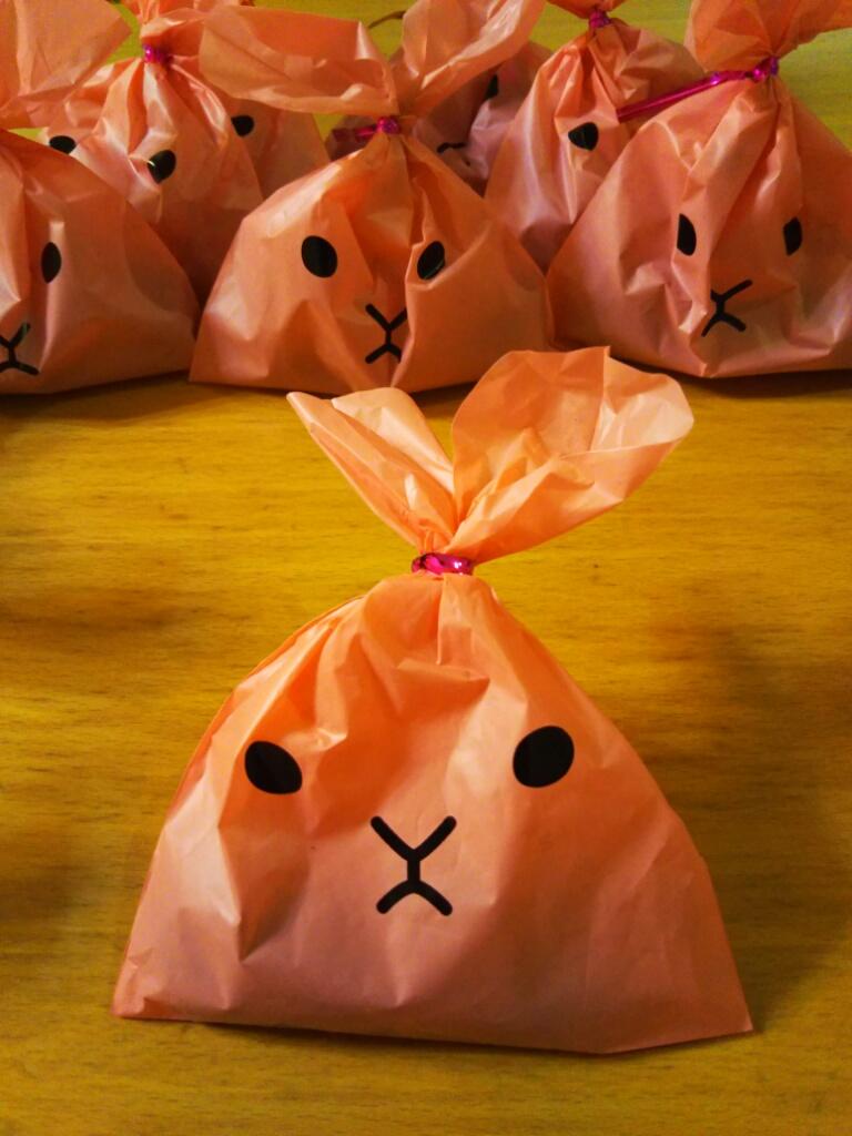 ウサギのラッピング